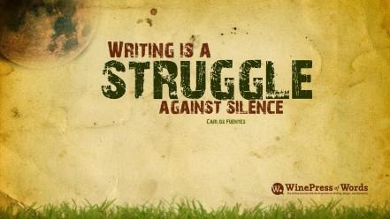 Thus, we struggle